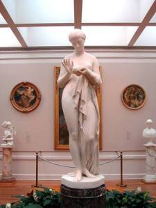 """""""Pandora,"""" an 1858 marble by American sculptor Chauncey Bradley Ives, captured by Jewel E. Leonard at the Huntington Library, Art Collections and Botanical Gardens."""